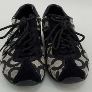 COACH SNEAKERS signature canvas black/grey